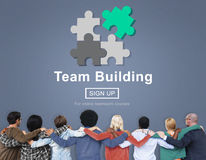 Έννοια ανάπτυξης επιχειρησιακής συνεργασίας χτισίματος ομάδας Στοκ εικόνα με δικαίωμα ελεύθερης χρήσης