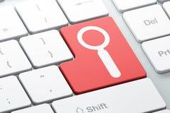 Έννοια ανάπτυξης Ιστού: Αναζήτηση στον υπολογιστή Στοκ Εικόνες