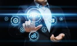 Έννοια ανάπτυξης Ιστού λογισμικού διεπαφών προγραμματισμού εφαρμογής API Στοκ Φωτογραφίες