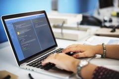 Έννοια ανάπτυξης Ιστού προγραμματισμού λογισμικού Στοκ φωτογραφία με δικαίωμα ελεύθερης χρήσης