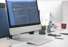Έννοια ανάπτυξης Ιστού προγραμματισμού λογισμικού Στοκ Φωτογραφία