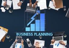 Έννοια ανάπτυξης προόδου στρατηγικής επιχειρησιακού προγραμματισμού Στοκ Εικόνα