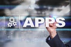 Έννοια ανάπτυξης Apps Επιχείρηση και τεχνολογία Διαδικτύου Στοκ Φωτογραφία