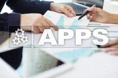 Έννοια ανάπτυξης Apps Επιχείρηση και τεχνολογία Διαδικτύου Στοκ Φωτογραφίες
