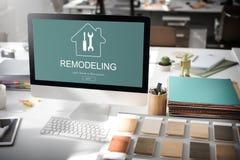 Έννοια ανακαίνισης προγράμματος σχεδίου κατασκευής Στοκ Εικόνες