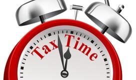 Έννοια ανακοίνωσης προθεσμίας φορολογικού χρόνου απεικόνιση αποθεμάτων