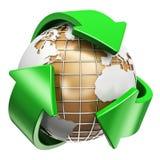 Έννοια ανακύκλωσης, οικολογίας και προστασίας του περιβάλλοντος Στοκ Εικόνα