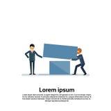 Έννοια ανταγωνισμού ομάδας εργασίας ομάδας επιχειρηματιών μαζί Στοκ Εικόνες
