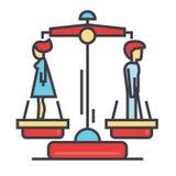 Έννοια ανδρών και γυναικών διαζυγίου ελεύθερη απεικόνιση δικαιώματος