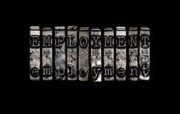 Έννοια απασχόλησης Στοκ εικόνα με δικαίωμα ελεύθερης χρήσης