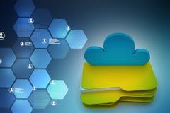Έννοια αποθήκευσης σύννεφων Στοκ Φωτογραφίες