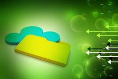 Έννοια αποθήκευσης σύννεφων Στοκ εικόνα με δικαίωμα ελεύθερης χρήσης