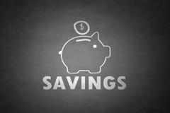 Έννοια αποταμίευσης τραπεζών Piggy Στοκ εικόνα με δικαίωμα ελεύθερης χρήσης