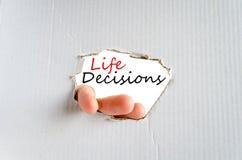 Έννοια αποφάσεων ζωής Στοκ φωτογραφία με δικαίωμα ελεύθερης χρήσης