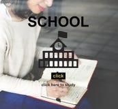 Έννοια αρχικών σελίδων σχολικής εκμάθησης εκπαίδευσης Στοκ φωτογραφία με δικαίωμα ελεύθερης χρήσης