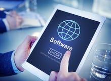 Έννοια αρχικών σελίδων ψηφιακών στοιχείων υπολογιστών λογισμικού Στοκ φωτογραφία με δικαίωμα ελεύθερης χρήσης