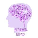 Έννοια ασθενειών του Alzheimer Στοκ Εικόνα