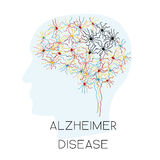 Έννοια ασθενειών του Alzheimer Ελεύθερη απεικόνιση δικαιώματος