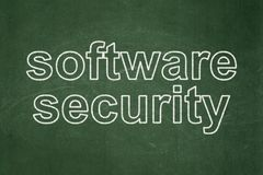 Έννοια ασφάλειας: Ασφάλεια λογισμικού στο υπόβαθρο πινάκων κιμωλίας Στοκ Εικόνα