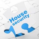 Έννοια ασφάλειας: Ασφάλεια σπιτιών στο υπόβαθρο γρίφων Στοκ Εικόνα