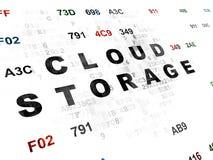 Έννοια ασφάλειας: Αποθήκευση σύννεφων σε ψηφιακό Στοκ Εικόνα
