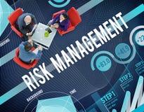Έννοια ασφάλειας ασφάλειας ελέγχου διαχείρησης κινδύνων Στοκ Εικόνα