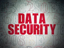 Έννοια ασφάλειας: Ασφάλεια δεδομένων σε ψηφιακό χαρτί Στοκ Φωτογραφία