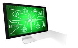 Έννοια ασφάλειας Διαδικτύου και υπολογιστών Στοκ Εικόνα