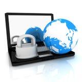Έννοια ασφάλειας Διαδικτύου Στοκ Φωτογραφίες