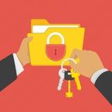 Έννοια ασφάλειας μυστικότητας Στοκ Εικόνα
