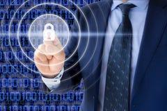 Έννοια ασφάλειας Cyber Στοκ Φωτογραφίες