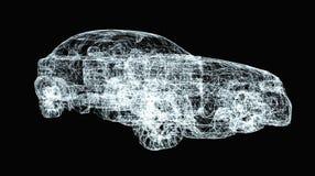Έννοια αυτοκινήτων τρισδιάστατο illusration Στοκ Εικόνες