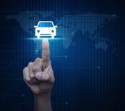 Έννοια αυτοκινήτων υπηρεσίας επιχείρησης, στοιχεία αυτού του εφοδιασμένου εικόνα β Στοκ Φωτογραφία