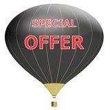 Έννοια αφισών πώλησης με την έκπτωση τοις εκατό τρισδιάστατο έμβλημα απεικόνισης με το μπαλόνι αέρα Σχέδιο για το έμβλημα, το ιπτ Στοκ Εικόνες