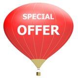 Έννοια αφισών πώλησης με την έκπτωση τοις εκατό τρισδιάστατο έμβλημα απεικόνισης με το μπαλόνι αέρα Σχέδιο για το έμβλημα, το ιπτ Στοκ Φωτογραφίες