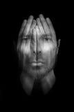 Έννοια αϋπνίας ή κατάθλιψης στοκ φωτογραφία με δικαίωμα ελεύθερης χρήσης