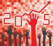 έννοια αύξησης του 2015 Στοκ Εικόνες