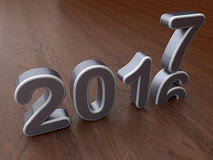 έννοια αλλαγής έτους του 2017 Στοκ Εικόνα