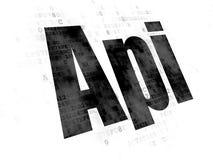 Έννοια βάσεων δεδομένων: API στο ψηφιακό υπόβαθρο Στοκ Φωτογραφία