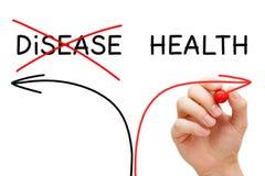 Έννοια βελών υγείας ή ασθενειών Στοκ εικόνα με δικαίωμα ελεύθερης χρήσης