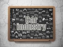 Έννοια βιομηχανίας: Αυτοκινητοβιομηχανία στο υπόβαθρο σχολικών πινάκων ελεύθερη απεικόνιση δικαιώματος