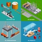 Έννοια βιομηχανίας πετρελαίου 2x2 απεικόνιση αποθεμάτων
