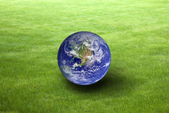 Έννοια γήινης ημέρας Εικόνα που παρέχεται γήινη από τη NASA Στοκ Φωτογραφία