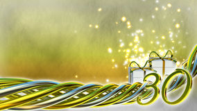 Έννοια γενεθλίων με τα δώρα και τους σπινθήρες Στοκ φωτογραφία με δικαίωμα ελεύθερης χρήσης