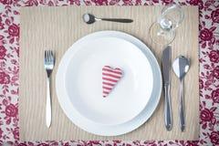 Έννοια γευμάτων βαλεντίνων Στοκ Εικόνες