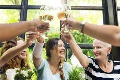 Έννοια γευμάτων επικοινωνίας γυναικών μαζί στοκ εικόνα με δικαίωμα ελεύθερης χρήσης