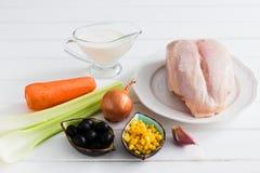 Έννοια γευμάτων - τρόφιμα σε ένα άσπρο υπόβαθρο Στοκ εικόνα με δικαίωμα ελεύθερης χρήσης