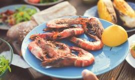 Έννοια γεύσεων κόμματος εορτασμού μεσημεριανού γεύματος τροφίμων Στοκ εικόνα με δικαίωμα ελεύθερης χρήσης