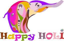 Έννοια για έναν περίκομψο ελέφαντα Holi διακοπών ευτυχή Στοκ Φωτογραφίες