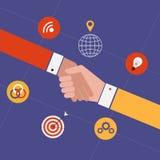 Έννοια για τη συνεργασία και την εργασία ομάδων απεικόνιση αποθεμάτων